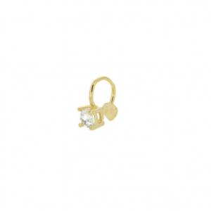 Pendiente earcuff diamond gold