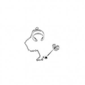 Earcuff cadena silver