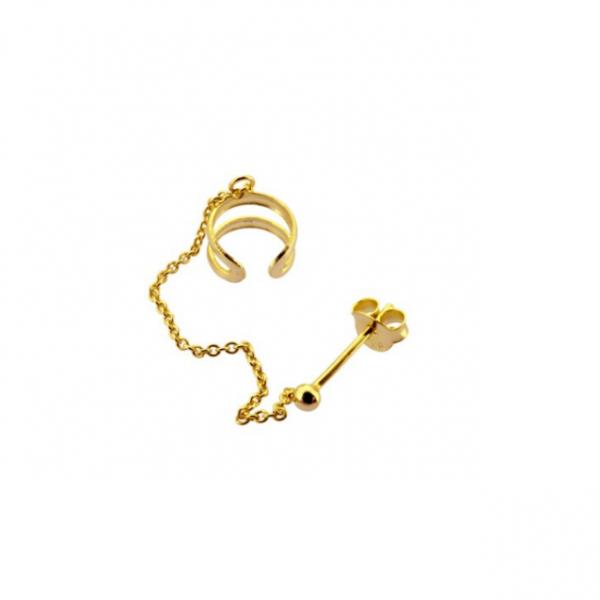 Earcuff cadena gold